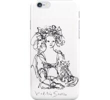 La Fille au Chat iPhone Case/Skin