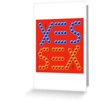 SEX/YES (Invertible Ambigram) Greeting Card
