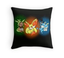 Gen 6 Starter Trio Throw Pillow