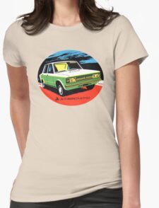 Vintage Car Autobianchi A 111 BS Decal  Womens Fitted T-Shirt