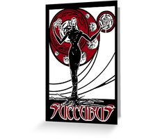 Art Nouveau Succubus Poster B Greeting Card