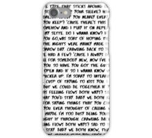 Do I Wanna Know - Arctic Monkeys  iPhone Case/Skin
