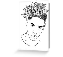 Flower man outline Greeting Card