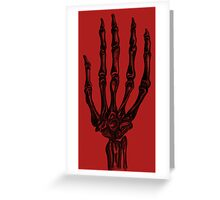 Grim Touch  Greeting Card
