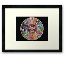 Pokemon Mandala Framed Print