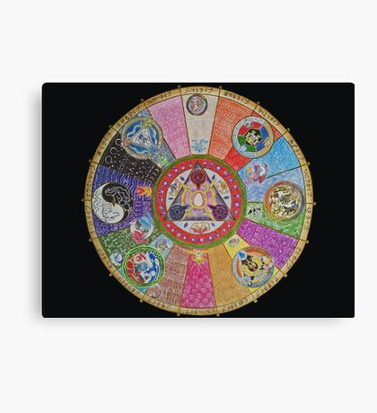 Pokemon Mandala Canvas Print
