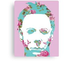 Halloween Floral Michael Myers Canvas Print