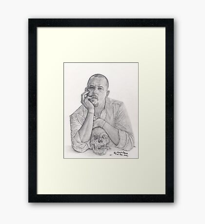 Alexander McQueen Savage Beauty Drawing Framed Print