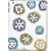 Watercolor Snowflakes Pattern iPad Case/Skin