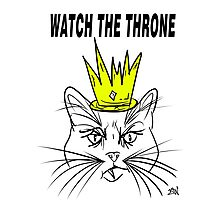 Watch The Throne- Cat Design Photographic Print