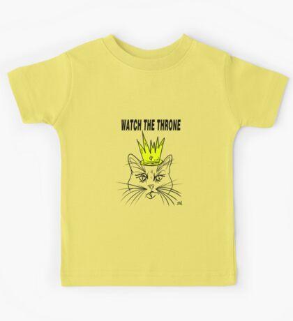 Watch The Throne- Cat Design Kids Tee
