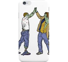 Zombies High-Five Too. iPhone Case/Skin