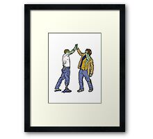 Zombies High-Five Too. Framed Print