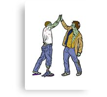 Zombies High-Five Too. Canvas Print