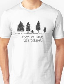 'Stop Killing The Planet' Sketch Print T-Shirt