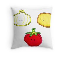 Cute Little Vegetables Throw Pillow