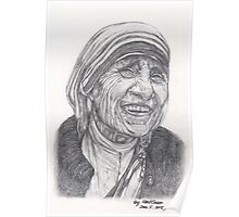 Mother Theresa Drawing Poster