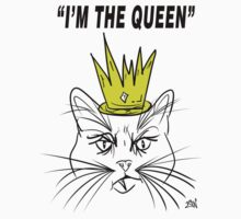 I'm The Queen - Cat Design One Piece - Long Sleeve