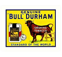 Vintage 1890s Bull Durham tobacco ad Art Print