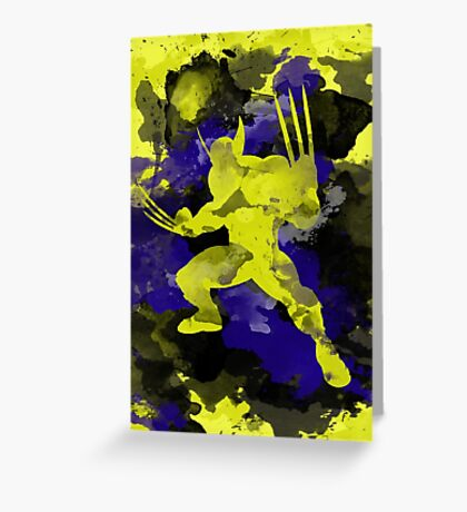 Wolverine Silhouette Greeting Card