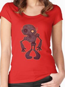 Rusty Zombie Robot  Women's Fitted Scoop T-Shirt