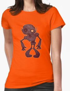 Rusty Zombie Robot  Womens Fitted T-Shirt