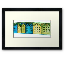Watercolor houses Framed Print