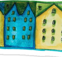 Watercolor houses Sticker