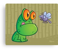 Frog and Dragonfly Canvas Print