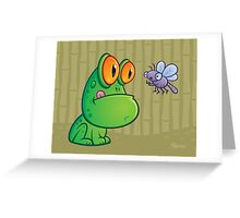 Frog and Dragonfly Greeting Card
