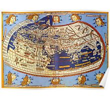 Map of the world 1492 - Claudius Ptolemy: The World Poster