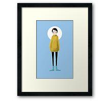 Mustard Sweathers Framed Print