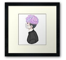 Creepy Cute Mask Kid (Without Gore) Framed Print