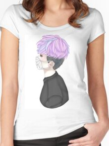 Creepy Cute Mask Kid (Without Gore) Women's Fitted Scoop T-Shirt