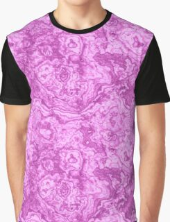 Mighty magenta marble psychedelic look Graphic T-Shirt
