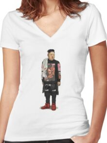Kim Jong-un  Women's Fitted V-Neck T-Shirt