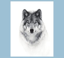 Timber Wolf in B&W Baby Tee