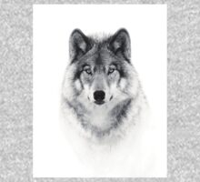 Timber Wolf in B&W One Piece - Long Sleeve