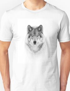 Timber Wolf in B&W Unisex T-Shirt