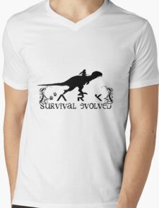 Ark Survival evolved -  Dino Rider Mens V-Neck T-Shirt