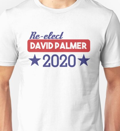 Re-Elect David Palmer 2020 - Stars Unisex T-Shirt