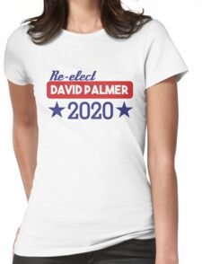 Re-Elect David Palmer 2020 - Stars Womens Fitted T-Shirt