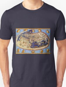 Map of the world 1492 - Claudius Ptolemy: The World Unisex T-Shirt