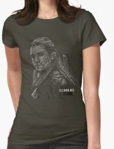 Legolas typography Womens Fitted T-Shirt