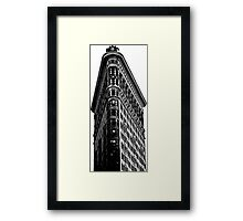 Flat Iron Building NYC Graphic Framed Print