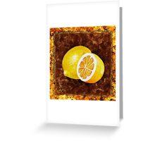Lemon Decorative Painting Greeting Card