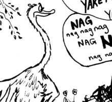 Zoo Humour - Cartoon 0008 Sticker