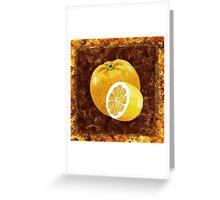 Orange And Lemon Decorative Painting Greeting Card