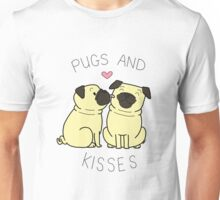 Pugs and Kisses - White Edition Unisex T-Shirt
