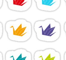 Origami cranes pattern Sticker